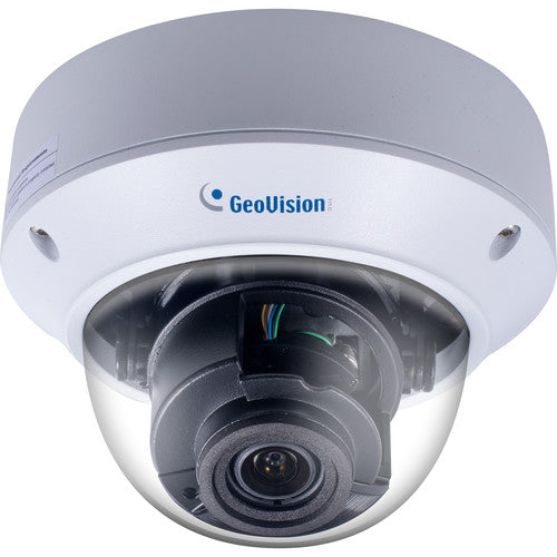 GEOVISION 125-TVD4710-000 GV-TVD4710 4MP H.265 4.3x Zoom Low Lux WDR Pro IR Vandal Proof IP Dome Camera with 2.8-12mm