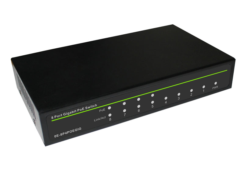 W Box Technologies 0E-8P4POEGIG 8 Port Fast Gigabit Ethernet PoE Switch