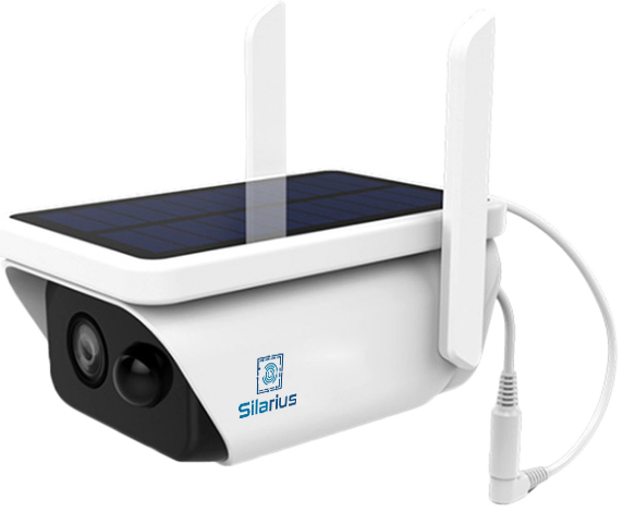 Silarius SIL-SOLARB3MPWIFI36 Bullet 3MP 3.6MM Solar Powered WiFi Camera (external removable 3W Solar Panel)