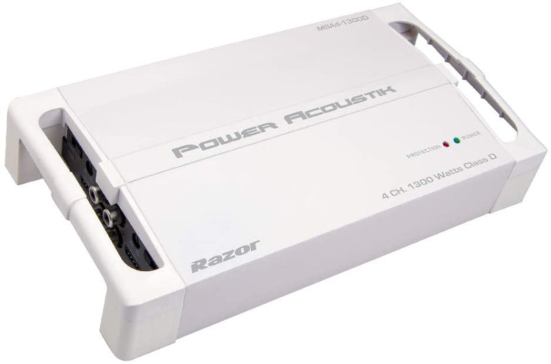 Power Acoustik MSA4-1300D Razor Series Marine-Grade 1,300 Watts Max 4-Channel Class D Amp