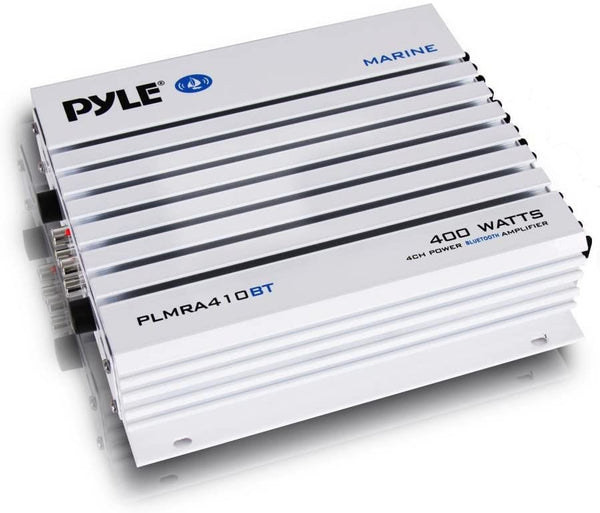 Pyle PLMRA410BT Elite Series Waterproof 400-Watt Marine Class AB Amp with Bluetooth® (4 Channels)