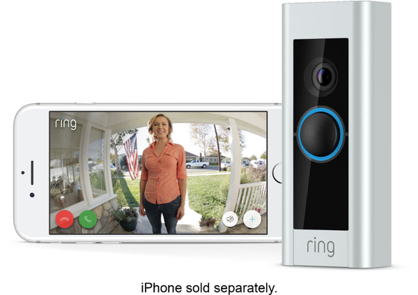 Ring 8VR1X8-0ENB Video Doorbell Pro and Chime Pro Bundle - Satin Nickel