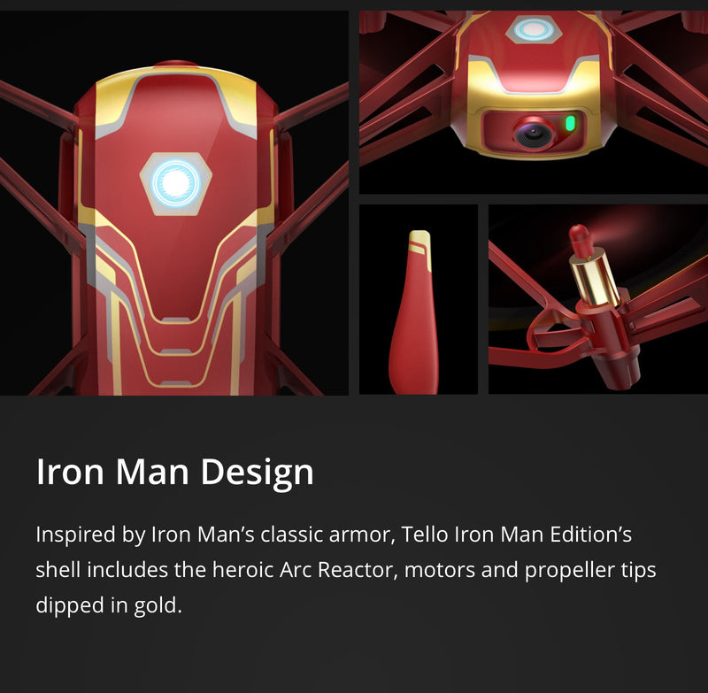 IN STOCK! READY TO SHIP! Ryze Tech Tello by DJI Quadcopter Drone (Iron Man Edition) CP.TL.00000002.01