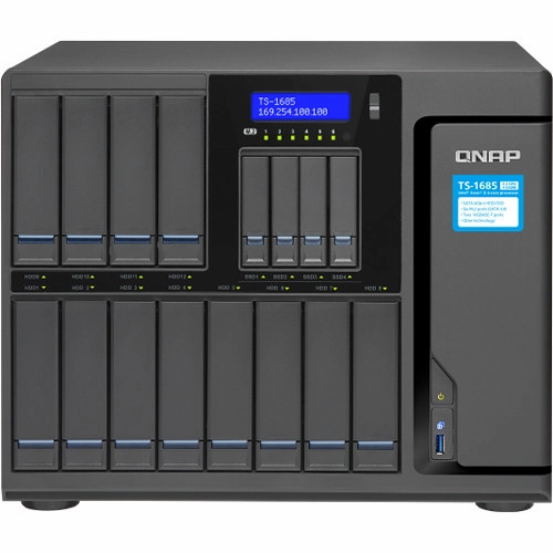QNAP TS-1685-D1531-16G-US 16 Bay/ iSCSI NAS, Intel D1531 6-Core 2.2GHz/ 16GB