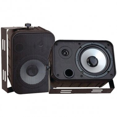 Pyle PDWR50B 6.5'' Indoor/Outdoor Waterproof Speakers (Black)