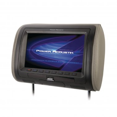 "Power Acoustik HDVD-71CC Universal Replacement Headrest w/ DVD Player & 7"" LCD"