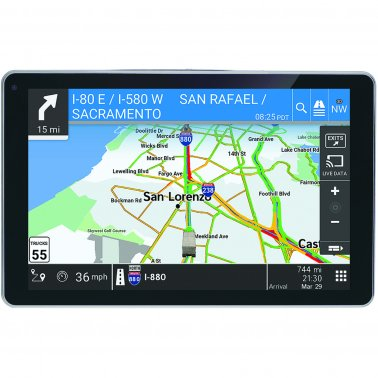 "OverDryve 528017829 Pro 8"" Truck GPS w/ Dash Cam,Bluetooth,SiriusXM,Lifetime map"