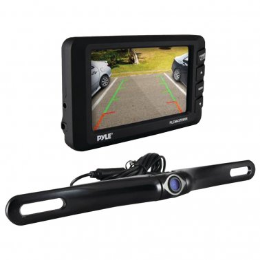 "Pyle PLCM4375WIR 4.3"" LCD Monitor & Wireless Backup Camera w/ Parking Assist"
