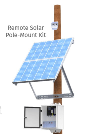Silarius 24/7 Solar Solution for PTZ Camera Up to 100W + P2P-Pole Mounted (600W)