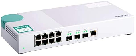QNAP QSW-308-1C 10GbE Switch, with 3-Port 10G SFP+