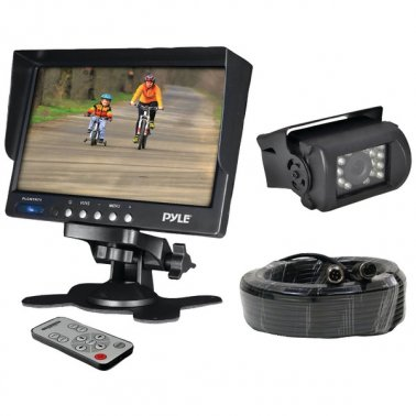 "Pyle PLCMTR71 7"" Weatherproof Backup Camera System w/ IR Night Vision Camera"