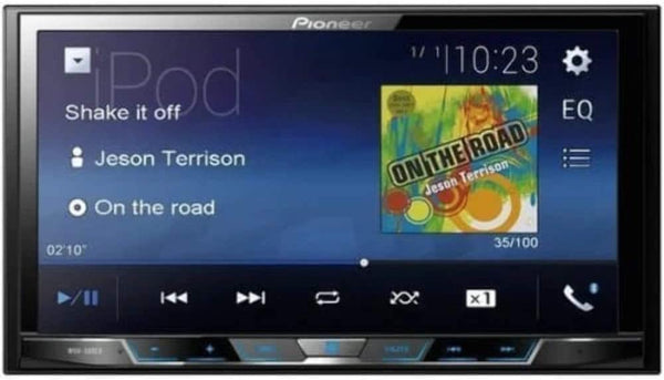 "Pioneer MVH-300EX 7"" Double-DIN Digital Media & A/V Receiver with Bluetooth"