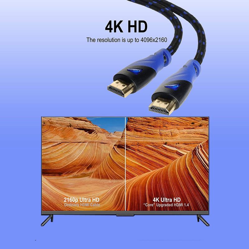 Silarius HDMI Cable (15 Feet) Ultra HDMI 2.0V Support 4K 2160P, 1080P, 3D, Audio Return and Ethernet - 1 Pack 15'