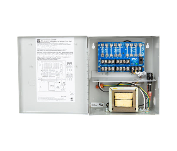 Altronix ALTV248UL CCTV Power Supply with 8 Fused Outputs, 24/28VAC @ 4A, 115VAC