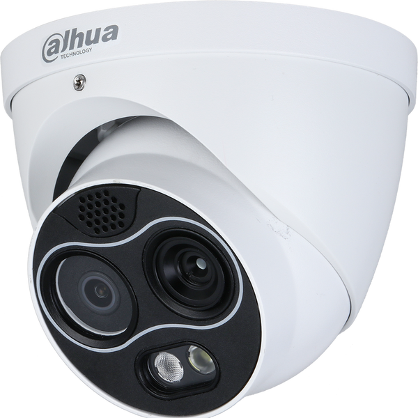 Dahua DH-TPC-DF1241N-D2F2 256 x 192 Hybrid Thermal Network Eyeball Camera, 2mm, Visible-light 2mm