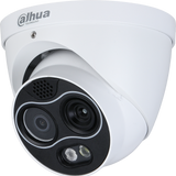 Dahua DH-TPC-DF1241N-D7F8 256 x 192 Hybrid Thermal Network Eyeball Camera, 7mm, Visible-light 8mm