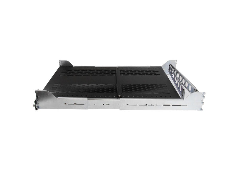 StarTech UNISLDSHF192 2U 50lb Sliding Vented Rack Mount Shelf with integrated cable management