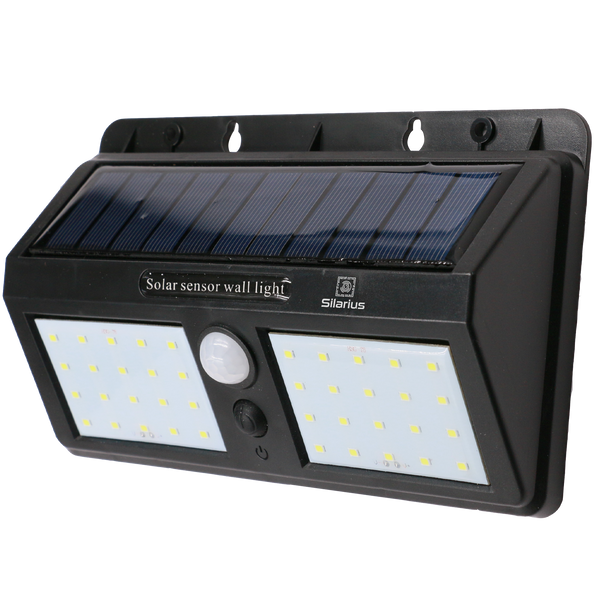 Silarius SIL-SOLARMOTION9 IP65 Solar PIR Motion detect light w/ Solar panel: 9V 1.3W