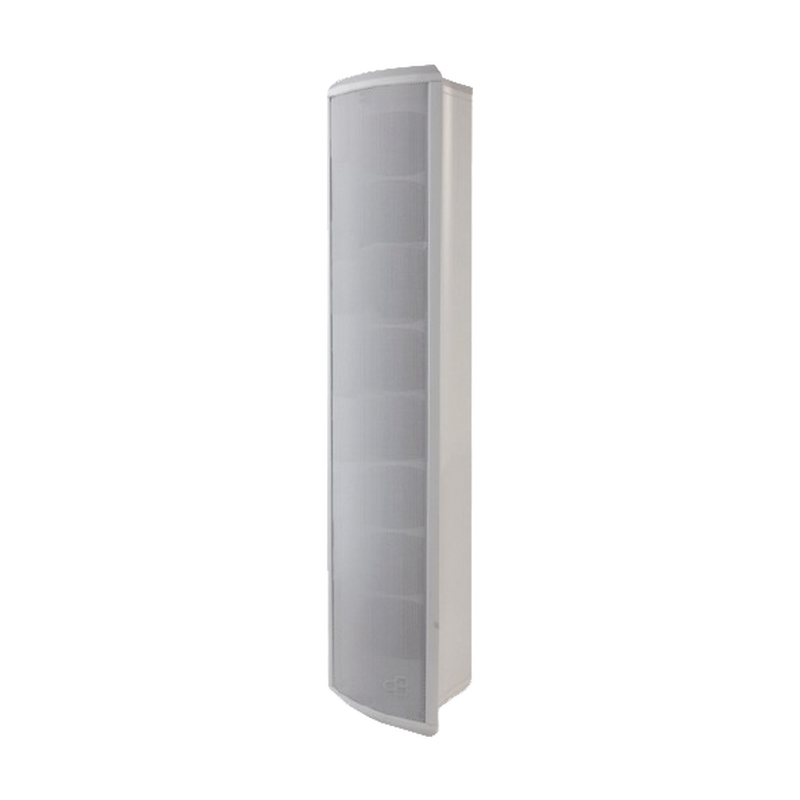 Honeywell L-POM80A Outdoor Column Loudspeaker, Configurable to 80, 40, 20 or 10 Watts, White, Aluminum