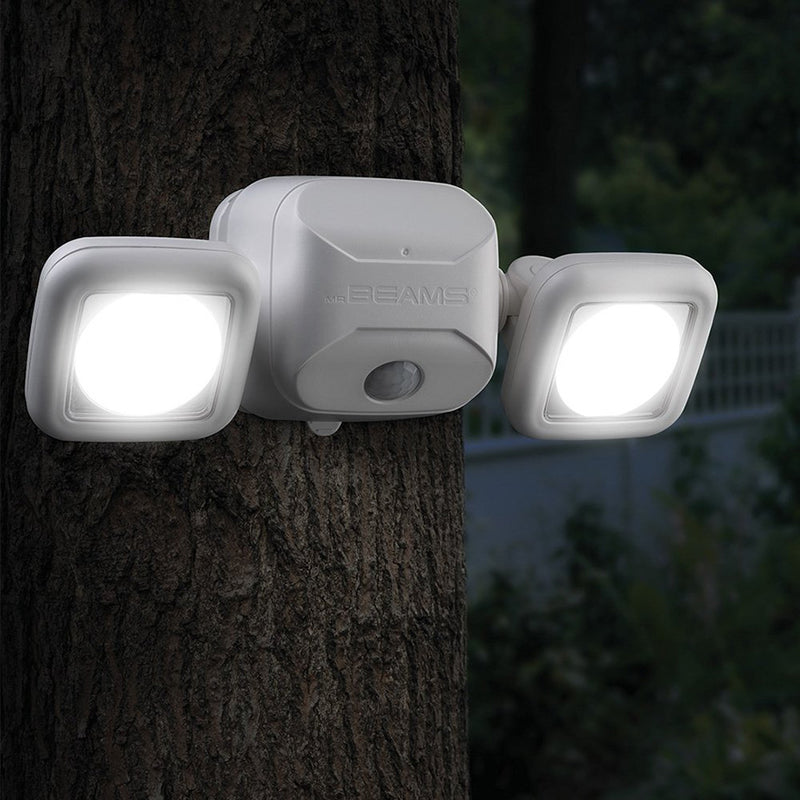 Mr. Beams® MB3000-WHT-01-00 500 Lumen Battery Powered High Performance Motion Sensor Security Light (White)
