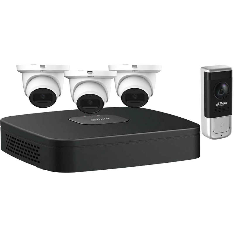 Dahua N444E42A 4-Channel Video Doorbell Security System