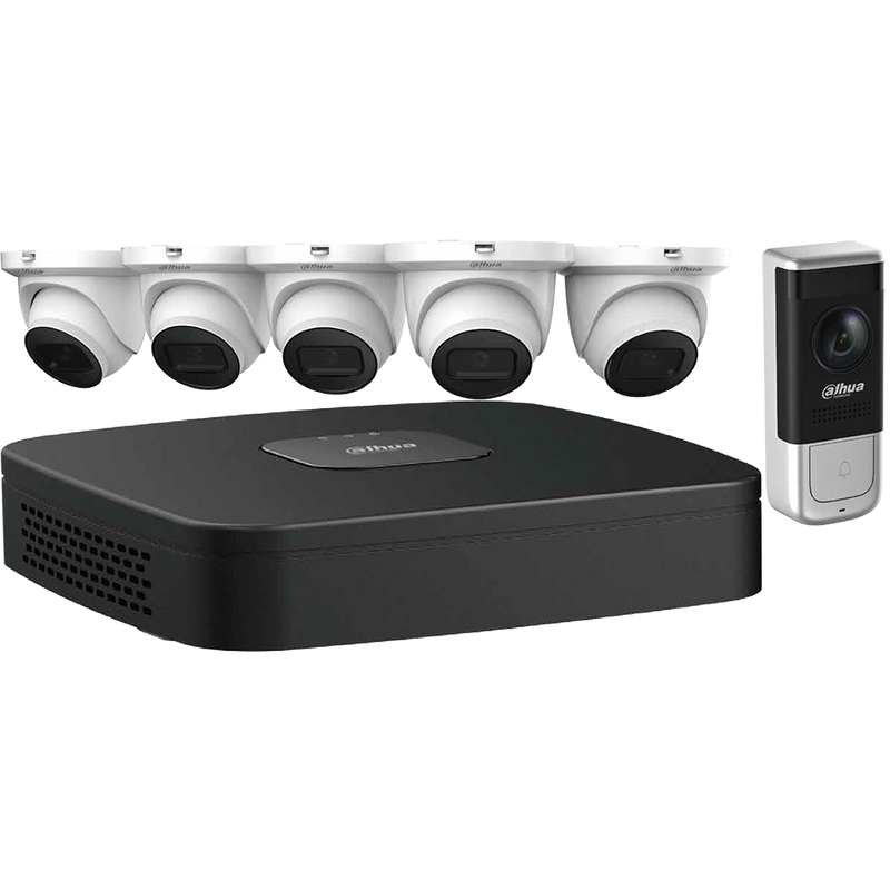 Dahua N484E62A 8-Channel Video Doorbell Security System