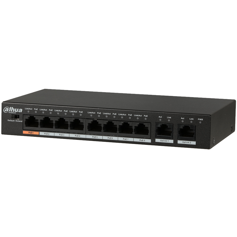Dahua Technology DH-PFS3010-8ET-96 10-Port Fast Ethernet PoE+ Switch