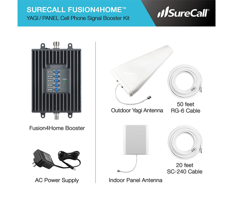 SureCall SC-PolyH-72-YP-Kit Fusion4Home Cellular Signal Booster Kit - Yagi/Panel