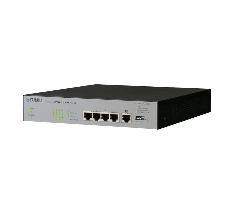 Yamaha YAC-SWR2100P-5G Pro L2 Gigabit Network Switch with PoE