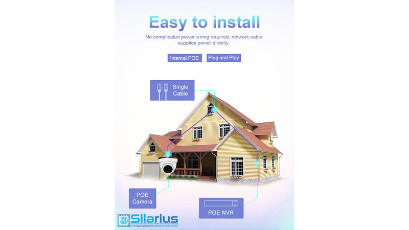 Silarius SIL-LB5MP8 Outdoor IP67 WiFi Bullet 5MP, 8mm lens