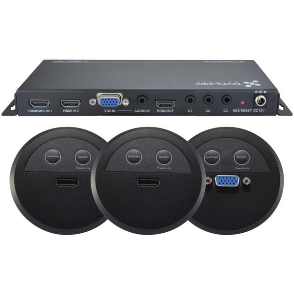 TechLogix TL-SMKIT-04 Share-Me Switcher Kit with 2 HDMI & 1 VGA Control Insert