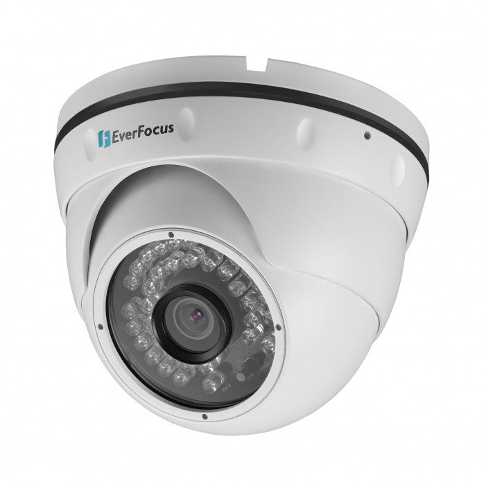 Everfocus EBN368E 3 Megapixel Economy Version Network IR Outdoor Dome Camera, 3.6mm Lens
