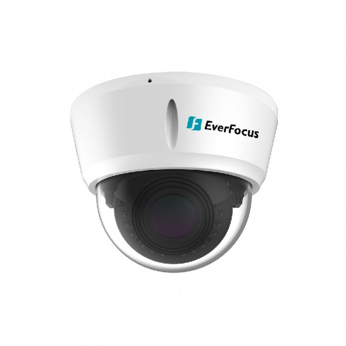 Everfocus EDN288ME 2 Megapixel Economy Version Network Outdoor IR Dome Camera, 2.8-12mm Lens