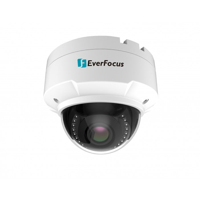 EverFocus EHN2850 8 Megapixel 4K Outdoor IR Dome Network Camera, 3.3-12mm Lens