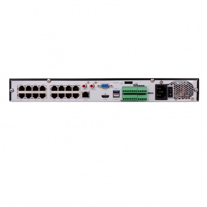 Everfocus Ironguard-1T 16 Channels 16 PoE Network Video Recorder, 1TB