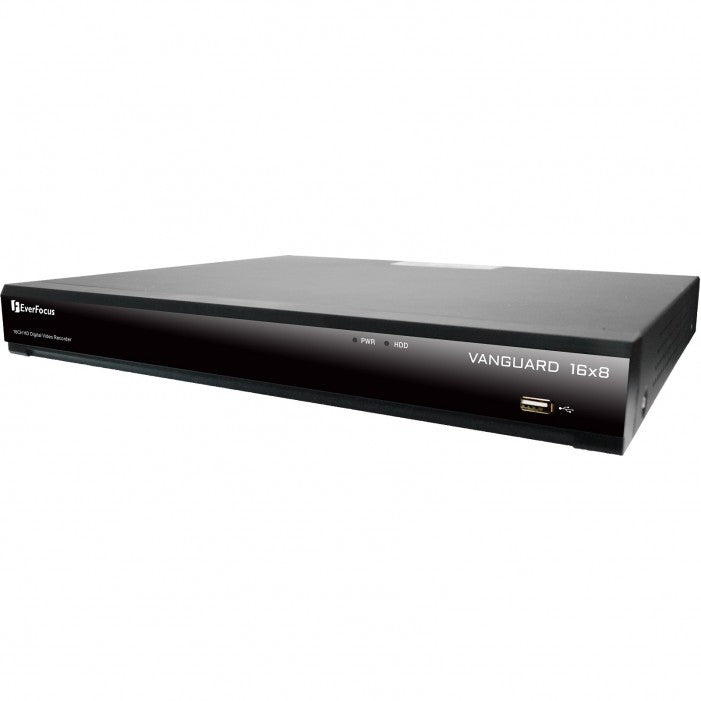 EverFocus Vanguard16x8H-1T 16 Channel H.265 Hybrid Video Recorder, 1TB