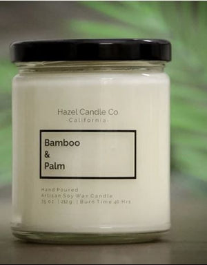 BAMBOO & PALM SOY CANDLE - 7.5 oz