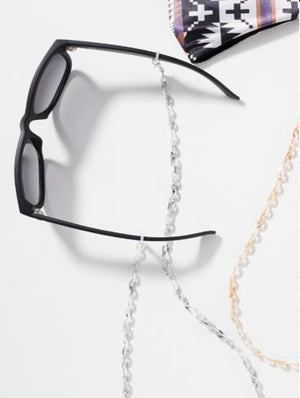 MINI LINKS ACETATE MASK & GLASSES NECKLACE - Black