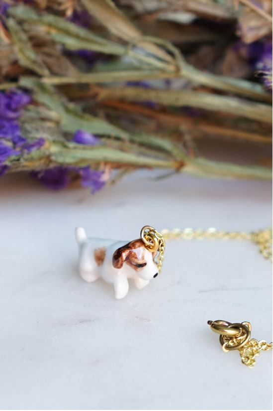 CERAMIC CUTEST PUP NECKLACE