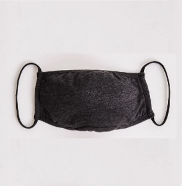 SOLID CHARCOAL KNIT FACE COVERING