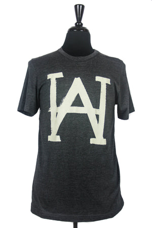 AH BRUSH SHOP TEE - charcoal