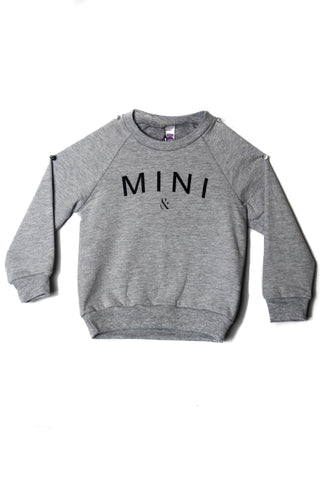 MINI CREWNECK FLEECE - Grey