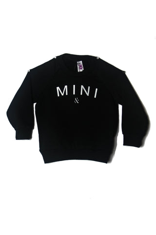 MINI CREWNECK FLEECE - Black