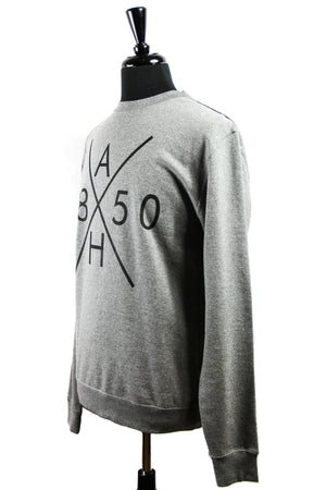 AH 1850 SHOP CREWNECK FLEECE - heather grey