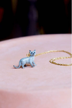 CERAMIC PURRFECT CAT NECKLACE