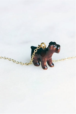 CERAMIC SCOTTY PUP NECKLACE