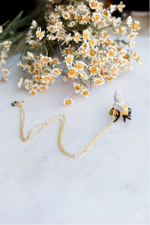 CERAMIC STING LIKE A BEE NECKLACE