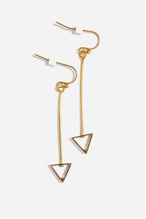 TRIANGLE DANGLE EARRING