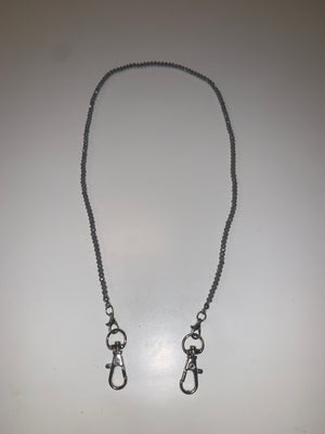KIDS GREY CRYSTAL MASK NECKLACE