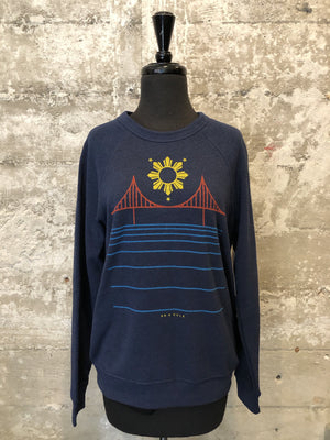 FILIPINX BRIDGE CREWNECK - navy